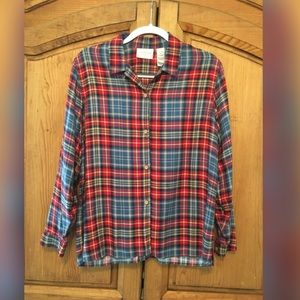 Liz Claiborne Plaid Long Sleeve Shirt